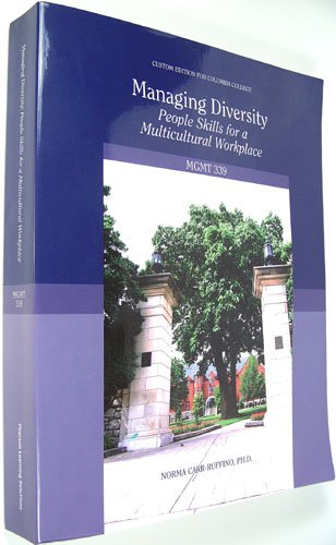 Managing Diversity People Skills for a Multicultural Workplace  8th edition cover