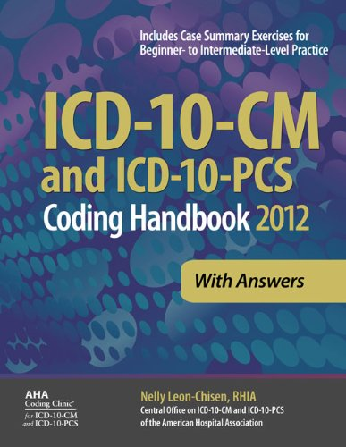 ICD-10-CM and ICD-10-PCS Coding Handbook, with Answers, 2012 Revised Edition  N/A edition cover