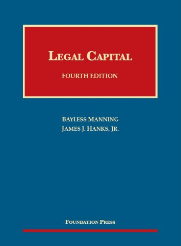 Manning and Hanks' Legal Capital, 4th  4th 2013 (Revised) edition cover
