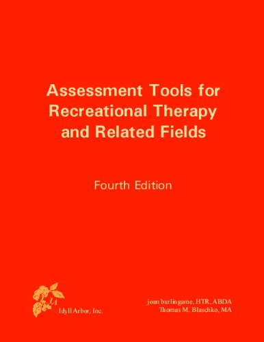 Assessment Tools for Recreational Therapy and Related Fields  4th 2009 edition cover