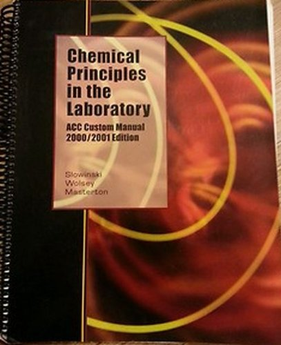 Chemical Principles in the Laboratory   2000 edition cover