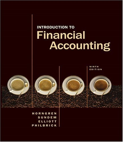 Introduction to Financial Accounting  9th 2006 (Revised) edition cover