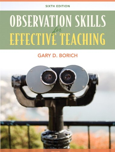 Observation Skills for Effective Teaching  6th 2011 edition cover