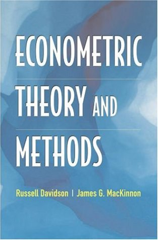 Econometric Theory and Methods   2004 9780195123722 Front Cover