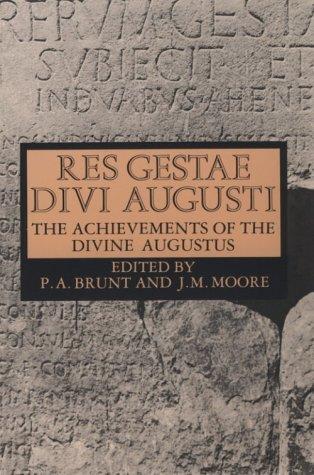 Achievements of the Divine Augustus   1967 edition cover