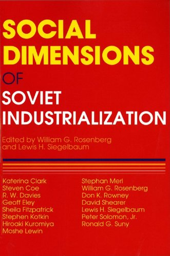 Social Dimensions of Soviet Industrialization  N/A 9780253207722 Front Cover
