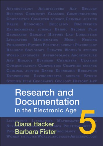Research and Documentation in the Electronic Age  5th 2010 edition cover