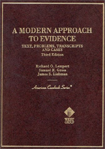 Modern Approach to Evidence  3rd 2000 (Revised) 9780314067722 Front Cover