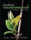 Academic Transformation The Road to College Success 3rd 2015 edition cover