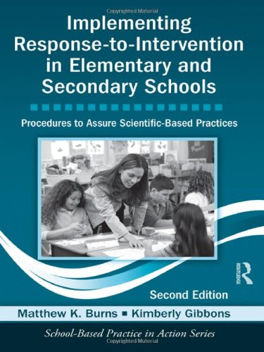 Implementing Response-to-Intervention in Elementary and Secondary Schools Procedures to Assure Scientific-Based Practices 2nd 2012 (Revised) edition cover