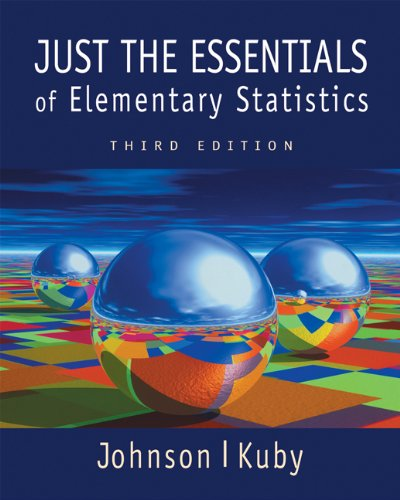 Just the Essentials of Elementary Statistics  3rd 2003 9780534384722 Front Cover