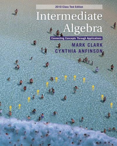 Intermediate Algebra 2010   2011 9780538498722 Front Cover