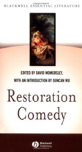 Restoration Comedy   2002 edition cover