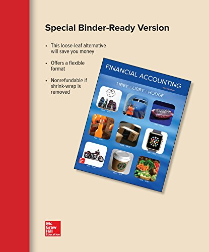 FINANCIAL ACCOUNTING (LOOSELEAF)        N/A 9781259738722 Front Cover
