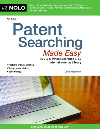 Patent Searching Made Easy How to Do Patent Searches on the Internet and in the Library 6th edition cover