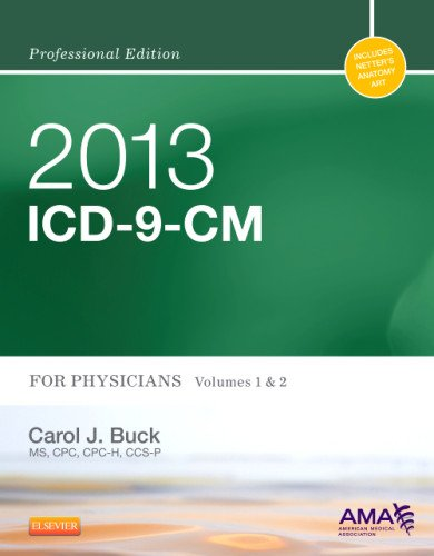 2013 ICD-9-CM for Physicians, Volumes 1 and 2 Professional Edition   2013 edition cover