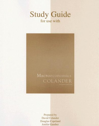 Study Guide for Use with Macroeconomics 7th 2008 edition cover