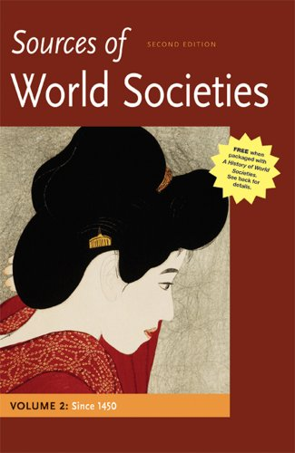 Sources of World Societies since 1450  2nd 2012 edition cover