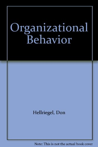 Organizational Behavior  7th 1995 9780314044723 Front Cover