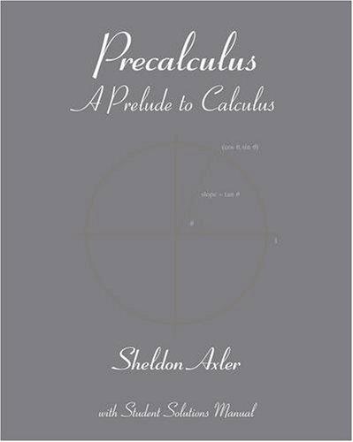Precalculus A Prelude to Calculus  2009 edition cover