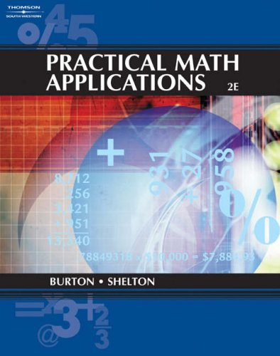 Practical Math Applications  2nd 2005 (Revised) 9780538727723 Front Cover