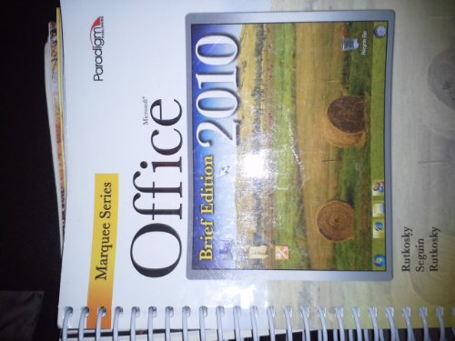 Microsoft Office 2010 Brief-W/Cd  N/A edition cover