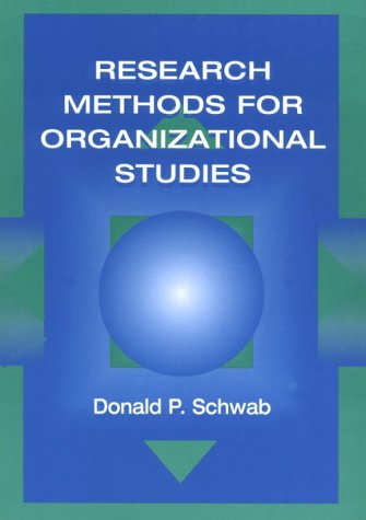Empirical Research Methods for Organizational Studies   1999 edition cover