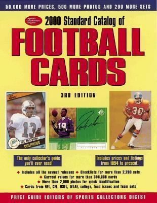 2000 Standard Catalog of Football Cards 3rd 1999 9780873417723 Front Cover