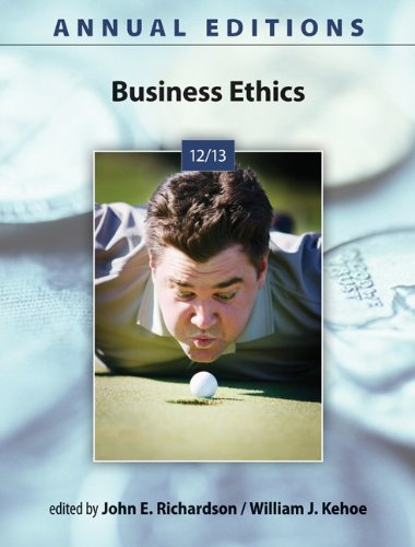 Business Ethics 12/13  24th 2013 edition cover
