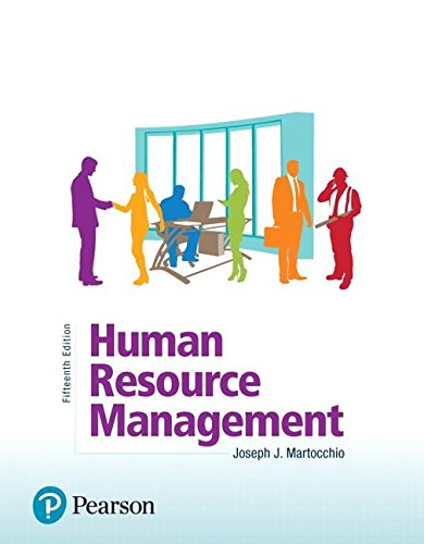 Human Resource Management  15th 2019 9780134739724 Front Cover