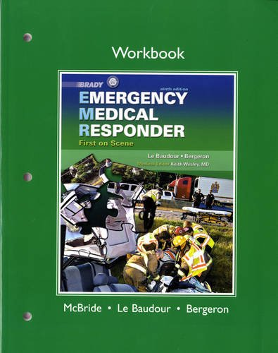 Workbook for Emergency Medical Responder First on Scene 9th 2012 edition cover