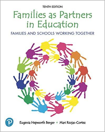 Families As Partners in Education: Families and Schools Working Together 10th 2019 9780135196724 Front Cover
