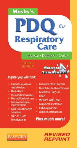 Mosby's PDQ for Respiratory Care - Revised Reprint  2nd edition cover