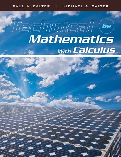 Technical Mathematics with Calculus  6th 2011 edition cover