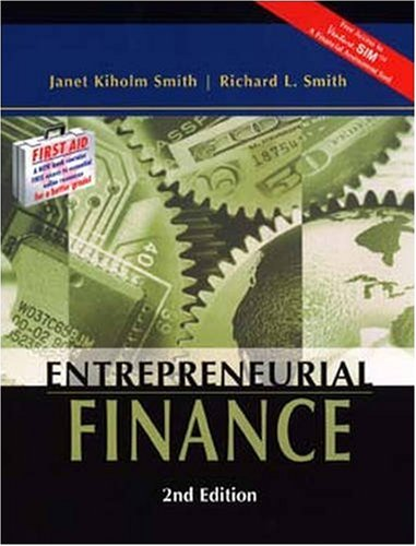 Entrepreneurial Finance  2nd 2004 (Revised) edition cover
