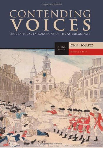 Contending Voices - To 1877  3rd 2011 edition cover