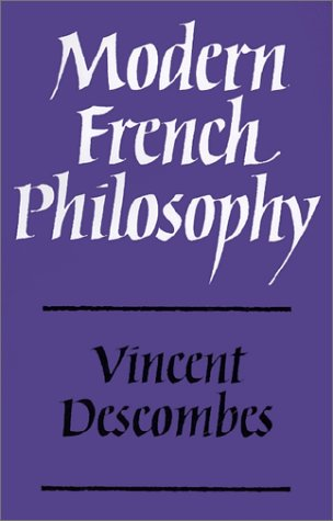 Modern French Philosophy   1980 9780521296724 Front Cover