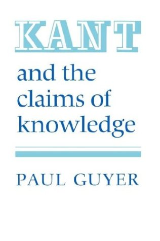 Kant and the Claims of Knowledge   1987 edition cover