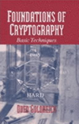Foundations of Cryptography Basic Tools  2001 edition cover