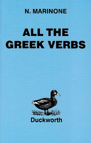 All the Greek Verbs   1985 (Reprint) 9780715617724 Front Cover