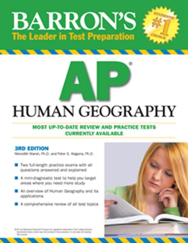 Barron's AP Human Geography  3rd 2010 (Revised) edition cover