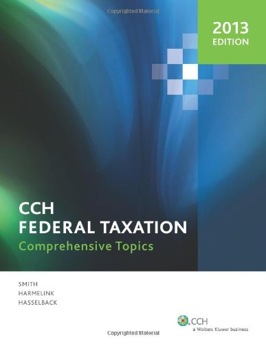 Federal Taxation Comprehensive Topics (2013) N/A edition cover