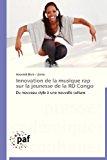 Innovation de la Musique Rap Sur la Jeunesse de la Rd Congo  N/A 9783838177724 Front Cover
