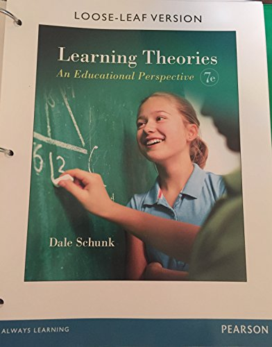 LEARNING THEORIES:EDUC.PERSPECTIVE      N/A edition cover