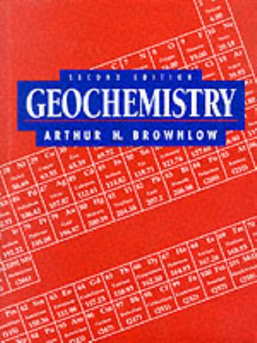 Geochemistry  2nd 1996 edition cover