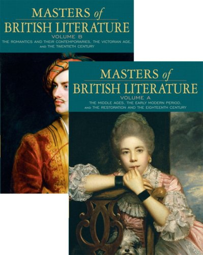 Masters of British Literature   2008 edition cover