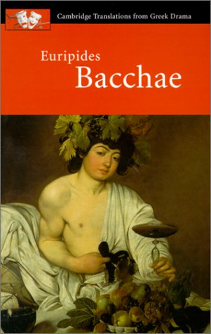 Euripides Bacchae  2000 edition cover