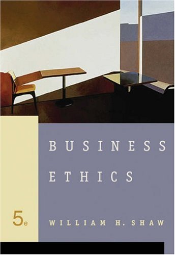Business Ethics  5th 2005 (Revised) edition cover