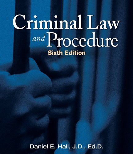 Criminal Law and Procedure  6th 2012 edition cover