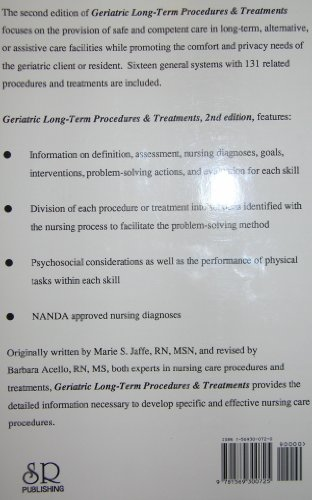 Geriatric Long-Term Procedures and Treatments A Problem-Solving Approach 2nd 1999 9781569300725 Front Cover